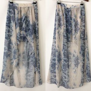 Kimchi Blue tie dye high low skirt